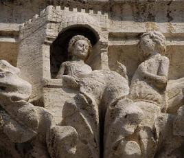 Venezia, Palazzo Ducale, Capitello del corteggiamento