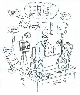 Autoritratto, vignetta di Emil (Paolo Emilio Pizzul)