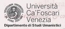 Logo Università Ca' Foscari - Dipartimento di Studi Umanistici